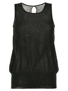 Uma Wang back keyhole tank top - Black