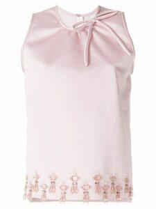 MSGM embellished top - PINK