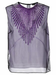 Marc Jacobs tulle embellished tank top - PINK