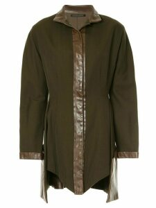 Yohji Yamamoto Pre-Owned stand-collar asymmetric jacket - Green