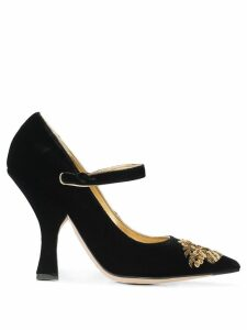 Dolce & Gabbana Pre-Owned embroidered high mary janes - Black