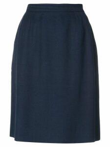 Yves Saint Laurent Pre-Owned high rise straight skirt - Blue