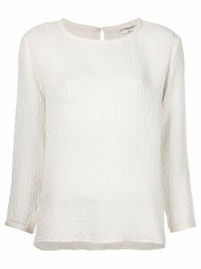 Yves Saint Laurent Pre-Owned ruched detail top - White