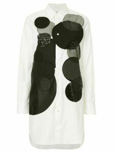 Junya Watanabe Comme des Garçons Pre-Owned circle-print longline shirt