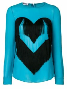 Moschino Pre-Owned fringed heart blouse - Blue