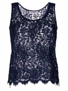 Yves Saint Laurent Pre-Owned lace tank top - Blue