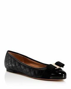 Salvatore Ferragamo Women's Varina Quilted Leather Cap Toe Ballet Flats
