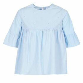 Moony Mood  IFATOUM  women's Blouse in Blue