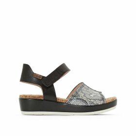 Mykonos Leather Wedge Heel Sandals