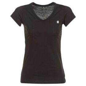 G-Star Raw  EYBEN SLIM V T WMN S/S  women's T shirt in Black