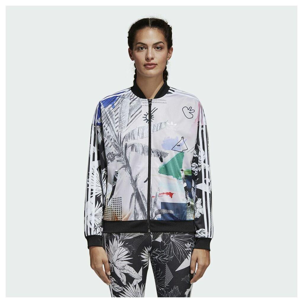 Oversized Zipped Patterned Jacket