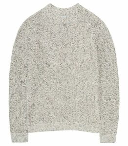 Reiss Longloft - Knitted Jumper in Oatmeal, Mens, Size XXL