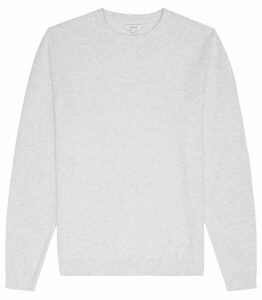 Reiss Maurice - Crew Neck Jumper in Soft Grey, Mens, Size XXL