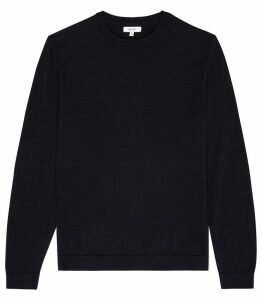Reiss Maurice - Crew Neck Jumper in Navy, Mens, Size XXL