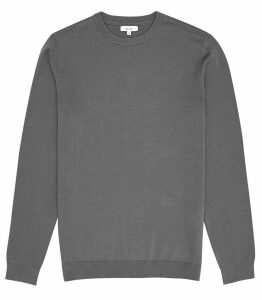 Reiss Maurice - Crew Neck Jumper in Sage, Mens, Size XXL