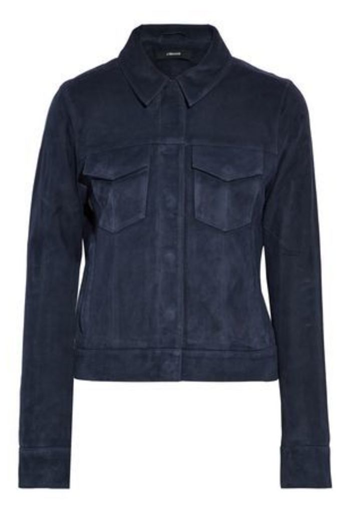 J Brand Woman Suede Jacket Navy Size L