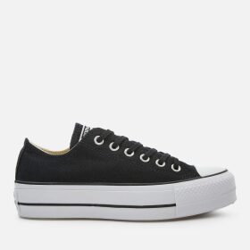 Converse Women's Chuck Taylor All Star Lift Ox Trainers - Black/White/White - UK 4