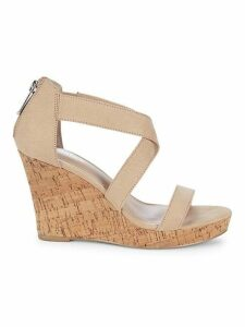 Logical Crisscross Leather Wedge Sandals