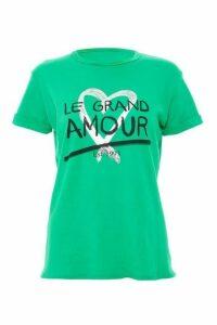 Quiz Green Slogan T-Shirt