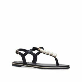Womens Miss Kg Reymiss Kg Rey Black Flat Sandal, 4 UK