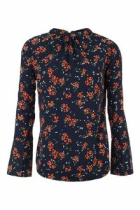 Floral Flare Sleeve Blouse