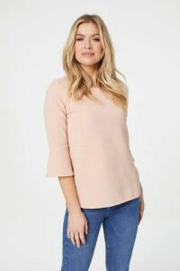 Ribbed Flute Sleeve Top