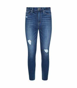 Margot Crop Cliff's Edge Destructed Raw Hem Jeans