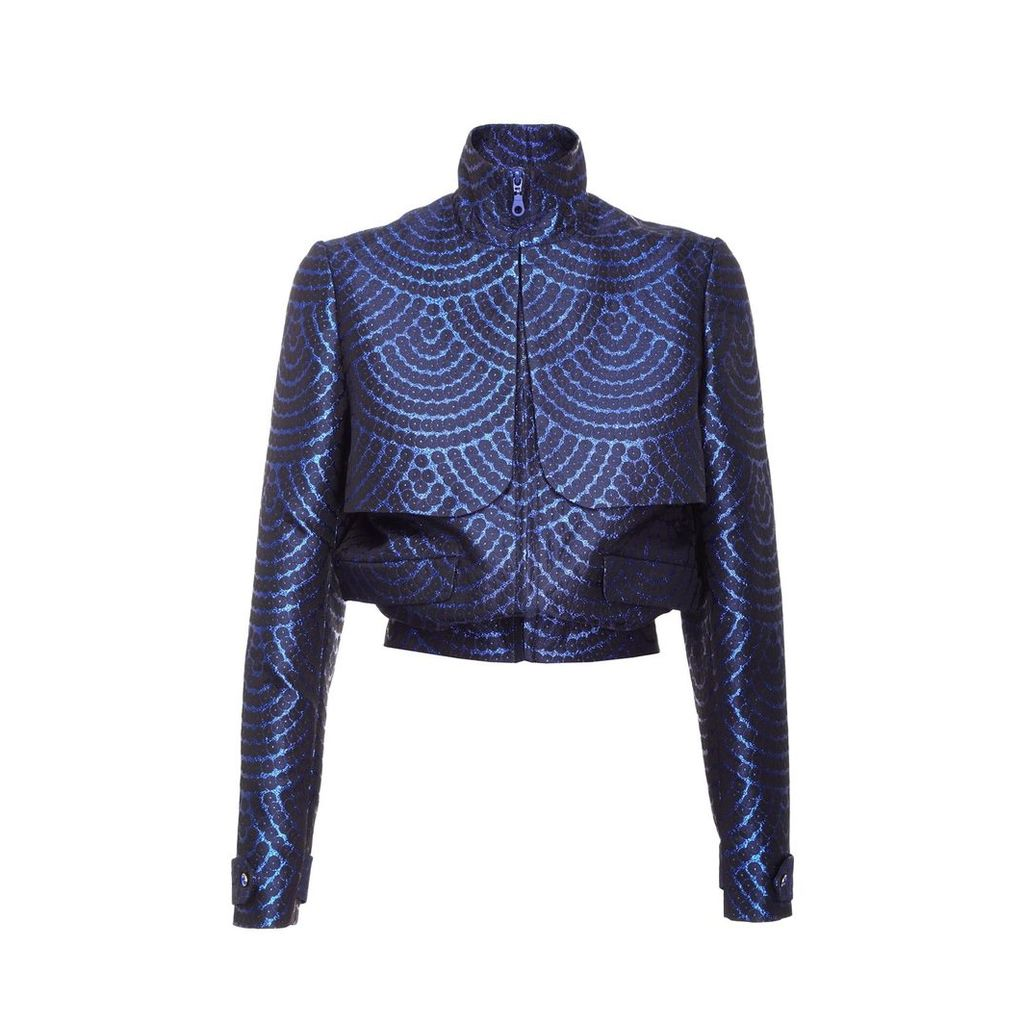 JIRI KALFAR - Blue Brocade Jacket