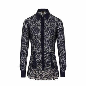 Sophie Cameron Davies - Midnight Blue Lace Shirt