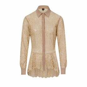 Sophie Cameron Davies - Beige Lace Shirt