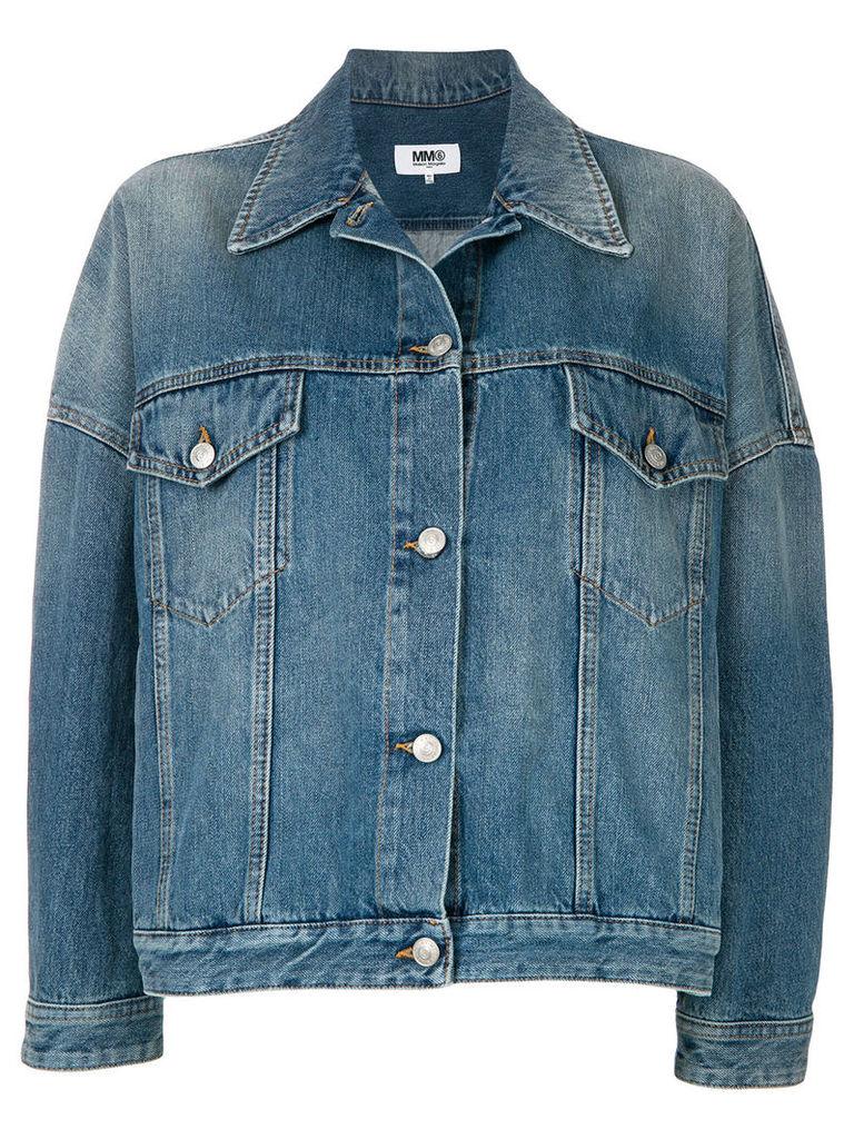 Mm6 Maison Margiela oversized denim jacket - Blue