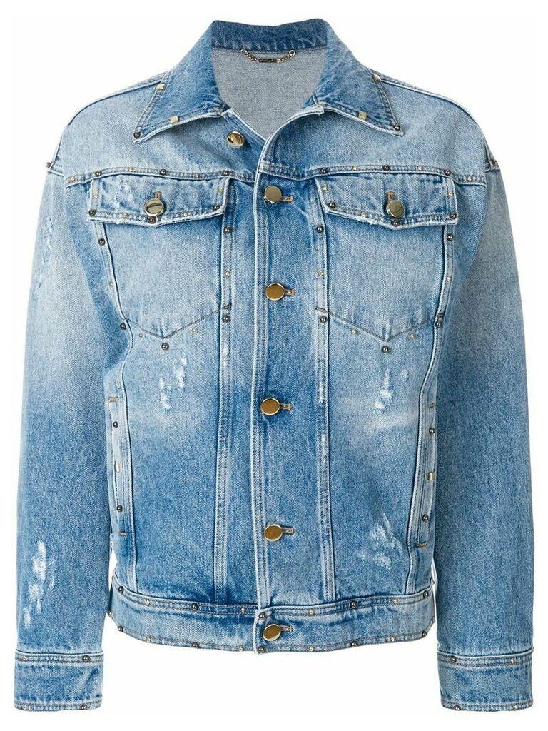 Versace printed denim jacket - Blue