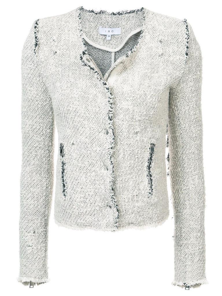 Iro fringed fitted jacket - White