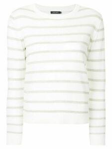 Loveless striped lurex sweater - White