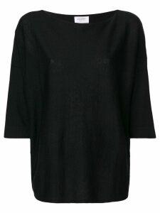 Snobby Sheep cropped sleeves jumper - Black