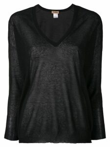 Blanca V-neck jumper - Black