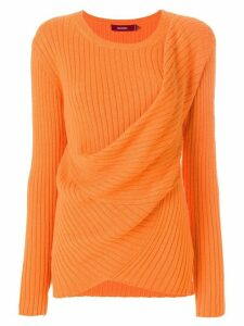 Sies Marjan draped rib knit sweater - Yellow