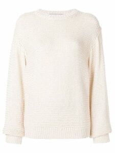 Stella McCartney open-knit jumper - White