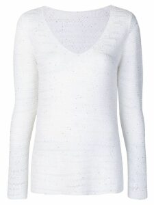 Le Tricot Perugia v-neck jumper - White