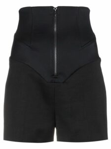 Esteban Cortazar Wool and silk high waisted shorts - Black