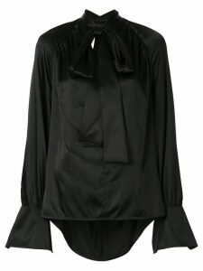 Petar Petrov V-neck open-back blouse - Black