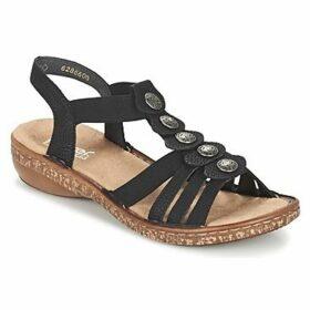 Rieker  MECHAROLO  women's Sandals in Black