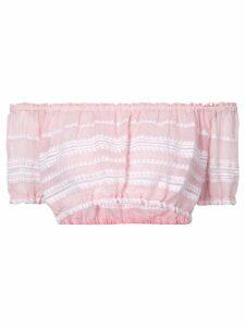 lemlem striped crop top - PINK