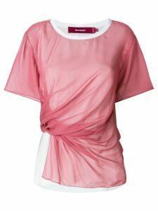 Sies Marjan draped T-shirt - PINK