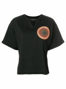 Mr & Mrs Italy beaded patch T-shirt - Black
