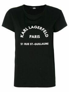 Karl Lagerfeld logo print T-shirt - Black