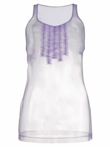 Dsquared2 ruffle-trimmed tank top - PINK