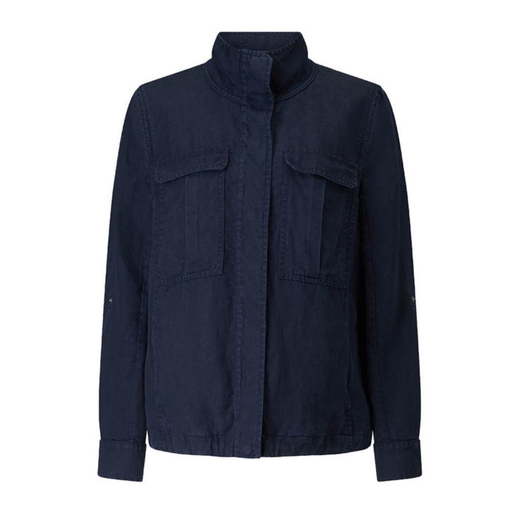 Jigsaw Linen Mix Military Jacket