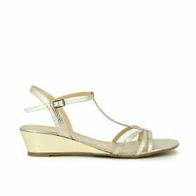 Gold coloured leather sandals