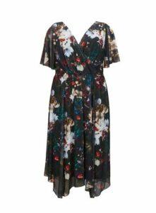 **Scarlett & Jo Multi Coloured Velvet Juliette Hanky Hem Dress, Others